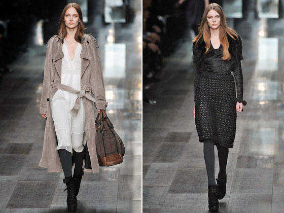 "<a href=""http://nymag.com/fashion/fashionshows/2009/fall/main/europe/womenrunway/burberry/"">Burberry</a> went from country garden to gothic glam, and we loved the range."