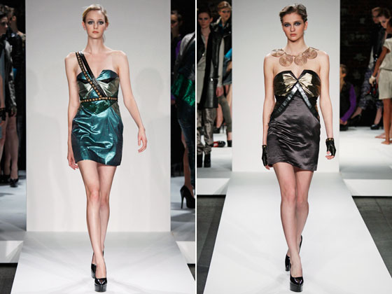 "<a href=""http://nymag.com/fashion/fashionshows/2009/fall/main/newyork/womenrunway/eliseoverland/"">Elise Overland</a>'s minidresses left little to the imagination."
