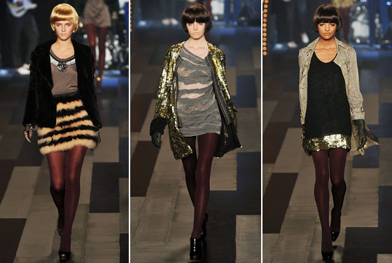 "<a href=""http://nymag.com/fashion/fashionshows/2009/fall/main/newyork/womenrunway/philliplim/"">Phillip Lim</a>'s girls showed their legs off in a fur mini, a sheer dress, and a sequined skirt."