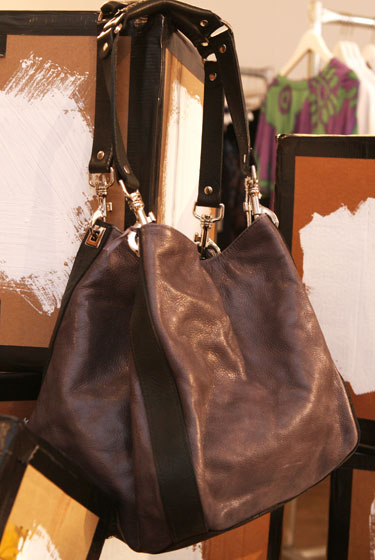 Bliss Lau bag with adjustable straps, $149.