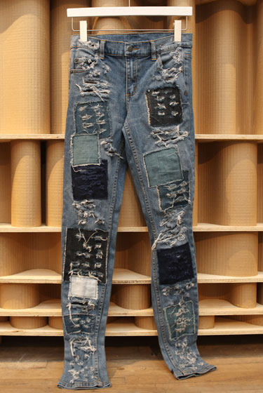 Cheap Monday hand-patched jeans, $70.