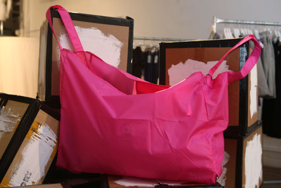 Cheap Monday pink nylon tote, $25.
