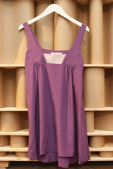 Geren Ford purple silk dress, $135.