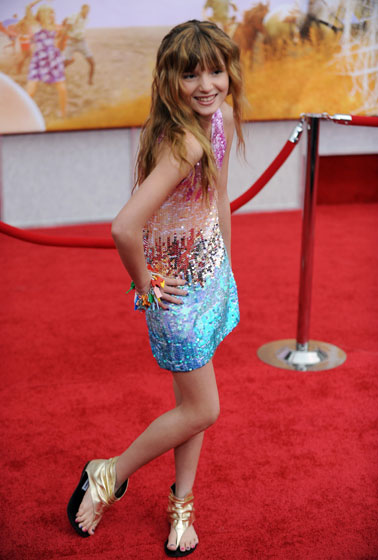 Bella Thorne is 11. Why is she posing so coquettishly? Why is her dress so sparkly? <em>Where are her parents?</em>