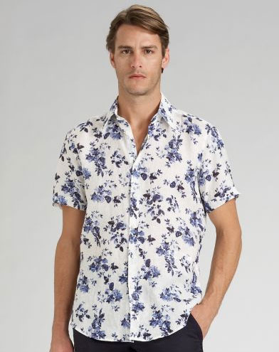 "<a href=""http://nymag.com/fashion/fashionshows/designers/bios/iceberg/"">Iceberg</a> floral-print shirt, $325 at <a href=""http://nymag.com/listings/stores/saks_fifth_avenue/"">Saks Fifth Avenue</a>."