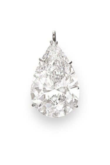 You need a pendant to match all your other diamonds, obviously. This 15.05-carat pear-shaped one is by Harry Winston.  Estimate: $700,000-1,000,000.