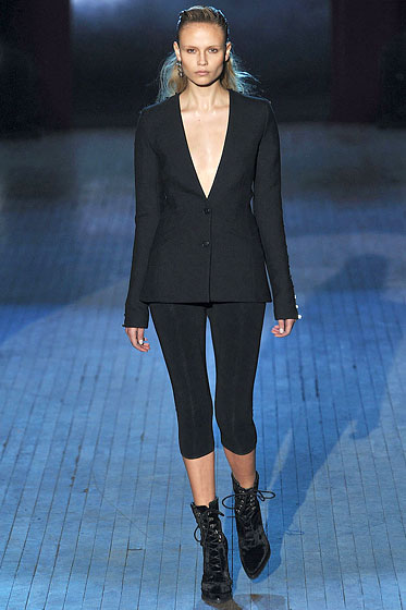 "<a href=""http://nymag.com/fashion/fashionshows/2009/fall/main/newyork/womenrunway/alexanderwang/"">Alexander Wang</a>'s cropped pair."