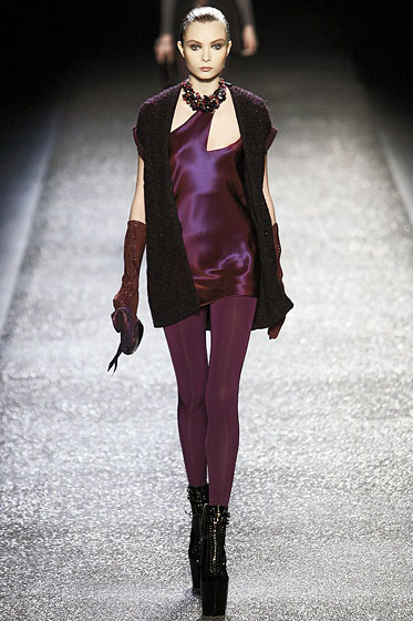 "The legs at <a href=""http://nymag.com/fashion/fashionshows/2009/fall/main/europe/womenrunway/ninaricci/"">Nina Ricci</a> came in an assortment of colors."