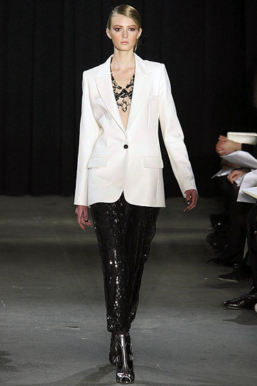 "<a href=""http://nymag.com/fashion/fashionshows/2009/fall/main/newyork/womenrunway/thakoon/"">Thakoon</a> plays with colors and textures."
