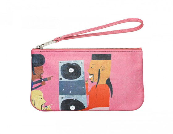 Creative Growth Leather Wristlet by Gerone Spruill, $24.