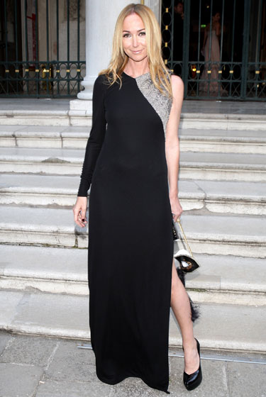 Gucci designer Frida Giannini's outfit doesn't have a lot going on, but that's the beauty of it.