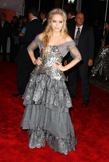Mary-Kate Olsen in Christian Lacroix Haute Couture.