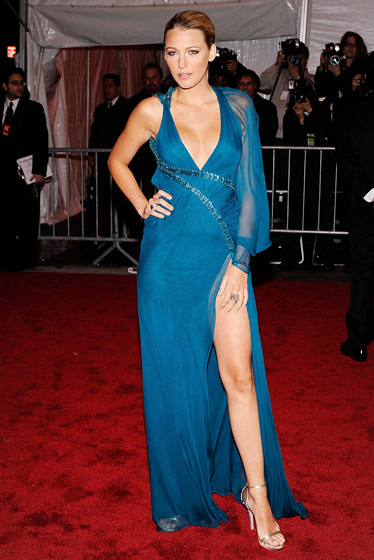 Blake Lively in Versace.