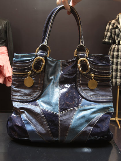 Stella McCartney patchwork patent leather bag, $415.