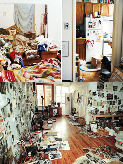 On the top is <em>Paper</em> editorial director Mickey Boardman's apartment. On the bottom is Dash Snow's studio in <em>Muse</em>. All the clean rooms have just been shot to death, you see.