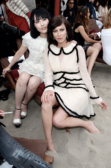Rinko Kikuchi and Anna Mouglalis smoked cigarettes. Along with every other foreigner there.