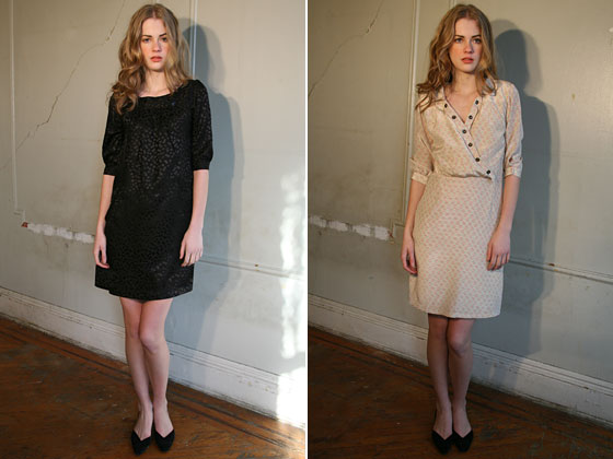 Two silk dresses from the fall 2009 collection that can take you from day to night.