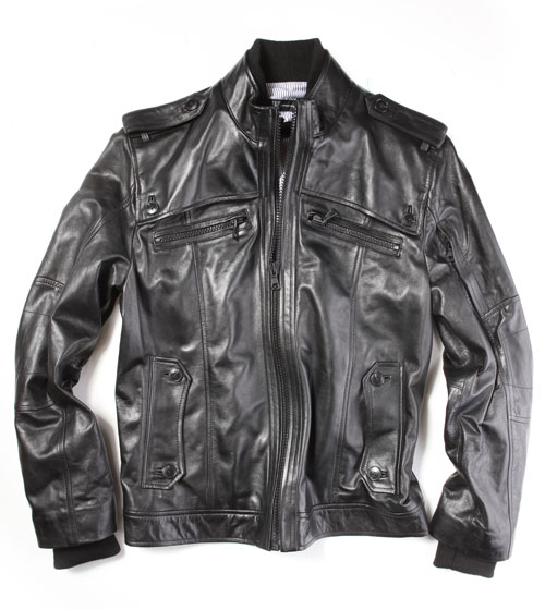 Leather Riley Jacket, $199.98.