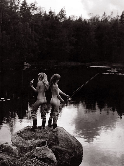 So, this is gratuitous. We hope these ladies are fishing for pants. Panties, at the very least.