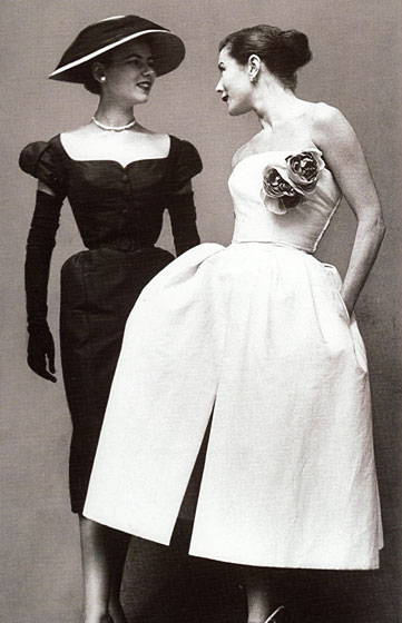 Two models in Christian Dior, 1951.