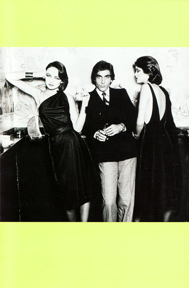 Models in Kasper for Joan Leslie (left) and John Anthony (right) with escort, c. 1975.