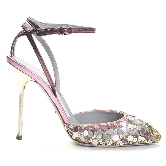 Sequin Sandal With Ankle Strap, $925.