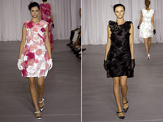 The floral collection. The girls used exaggerated details in their clothes -- flowers, bows, appliques.