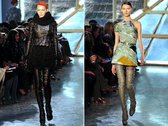 Leather, knits, and minidresses: The collection was a home run with editors.
