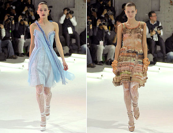 The fall 2008 collection was partially inspired by ballerinas <em>en pointe</em>.
