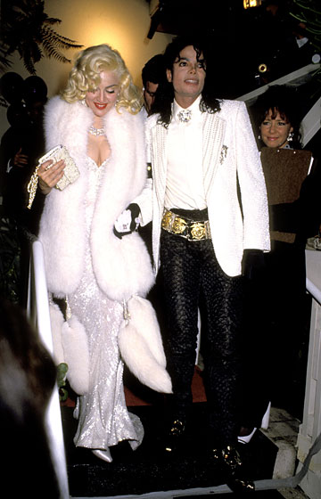 The white tux to rival all tuxes. With Madonna at the 63rd Annual Academy Awards.