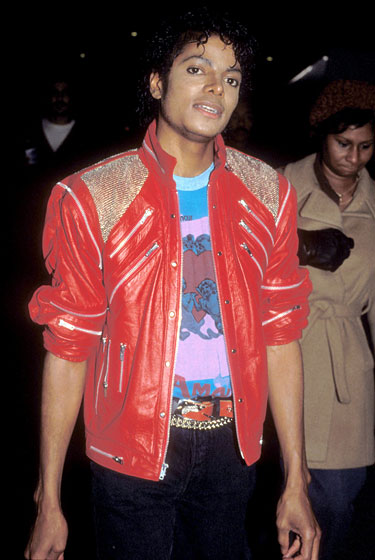 "On the set of ""Beat It"" in the one and only jacket."