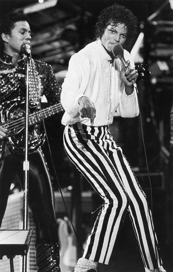 Performing as the Jackson 5. Even back then, he had amazing style.