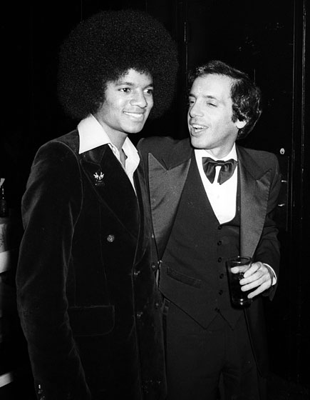 A sharply dressed Jackson at Studio 54 with Steve Rubell.