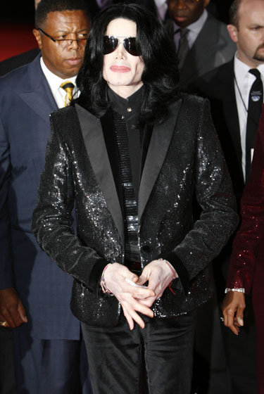 A sequined blazer at the World Music Awards in London.