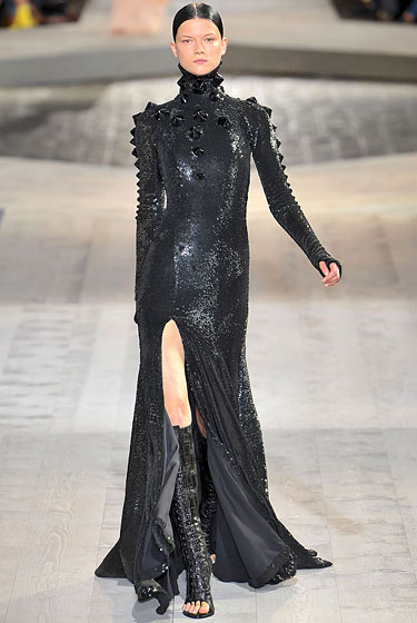 "We have always wanted to be the evil overlords of our own empire, so the day we slip into this <a href=""http://nymag.com/fashion/fashionshows/2009/fall/main/europe/couturerunway/givenchy/"">Givenchy</a> is the day we finally feel dressed for global domination. It'll probably be at the expense of our homes -- yards and detached garages included -- but we'll gladly take that deal. Once we take over the world, we're totally going to have our pick of free castles anyway."