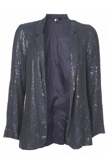 Blue Sequin Blazer, $160.
