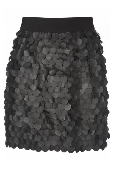 Leather Circle Skirt, $180.