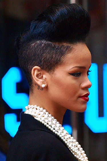 Earlier this month, Rihanna shaved the bottom part of her hair off. This girl may just have the most amazing hair of the decade. She could probably have a blind 5-year-old cut it with plastic scissors and still walk out of the house looking amazing.