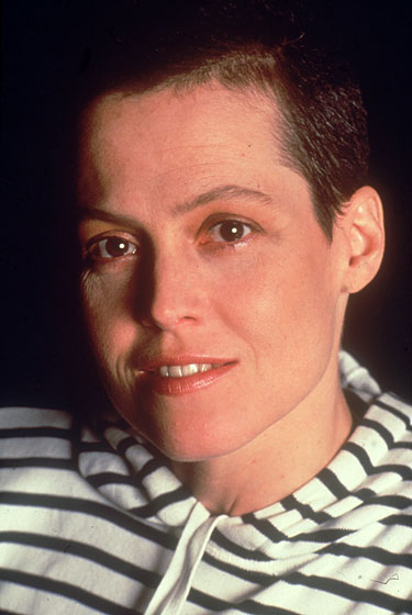 Sigourney shaved her head for 1992's <em>Alien 3</em>. Even a bob can get in the way when you're fighting extraterrestrial beings to the death and have one growing inside you.