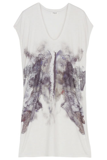 "Helmut Lang Lunar Print top, $195 at <a href=""http://nymag.com/listings/beauty/barneys01/"">Barneys</a>."