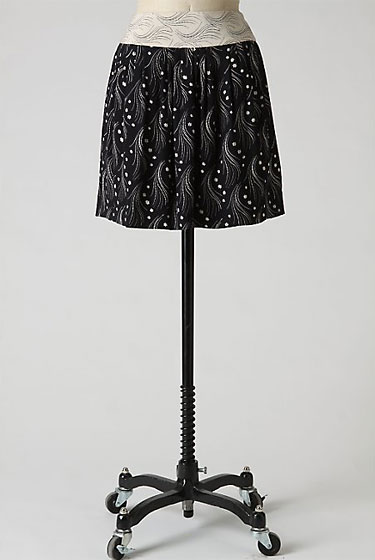 "Leifsdottir Cosmos Constellation skirt, $228 at <a href=""http://nymag.com/listings/stores/anthropologie00/"">Anthropologie</a>."