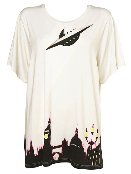 "Parliament Print tee by Unique, $90 at <a href=""http://nymag.com/listings/stores/topshop/"">Topshop</a>."