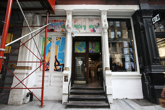 The storefront at 111 Spring Street.