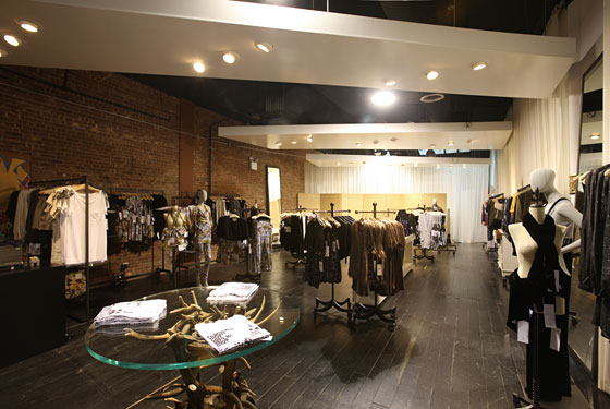 A view of the 1,900-square-foot store.