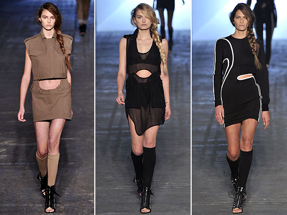 "We're not sure anyone with a normal stomach can wear these skirts at <a href=""http://nymag.com/fashion/fashionshows/2010/spring/main/newyork/womenrunway/alexanderwang/"">Alexander Wang</a>."