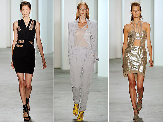 "<a href=""http://nymag.com/fashion/fashionshows/2010/spring/main/newyork/womenrunway/preen/"">Preen</a> is known for cutouts, and they delivered again this season."