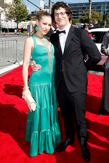 Andy Samberg and Joanna Newsom.