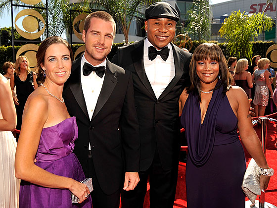 Chris O'Donnell in Giorgio Armani with LL Cool J.