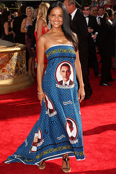 Victoria Rowell in an Obama dress.
