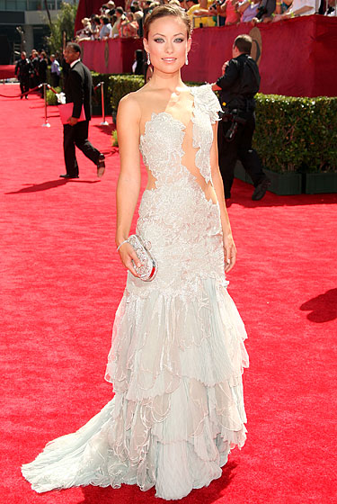 Olivia Wilde in Marchesa.